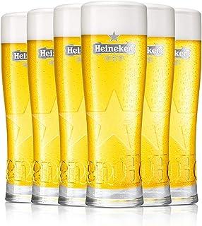 HEINEKEN | Verres à Bière | 250 ML | Ensemble de 6 | Ensemble de Verres de Haute Qualité