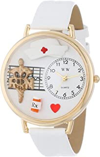 Whimsical Watches Unisex G0620008 RN White Leather Watch