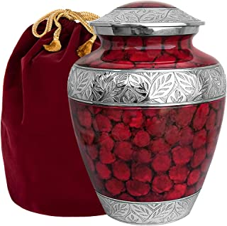 Celebration of Life Red Adult Cremation Urn for Human Ashes - Share Your Special Love with This Large Classic Comforting U...