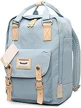 HaloVa Backpack, Unisex Laptop Bag Travel Rucksack, Small School Bag Daypack for School Working Hiking, Waterproof & Durable, Light Blue
