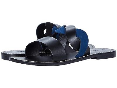 Soludos Imogen Leather Sandal (Black/Midnight) Women