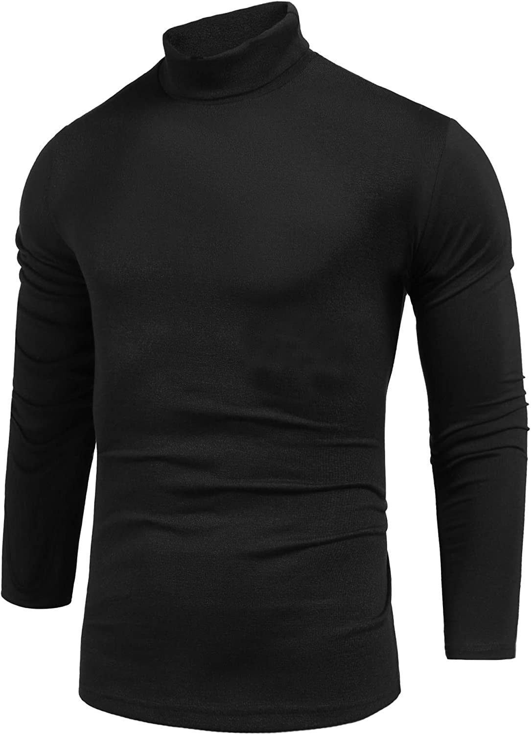 Pacinoble Men's Turtleneck Pullover Sweater Casual Long Sleeve Slim Fit Basic Knitted Thermal Tops