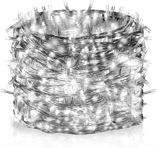 Vilaka 300LEDs Christmas String Lights 33M/108FT Fairy Twinkle String Lights Memory 8 Flash Modes, Waterproof Indoor/Outdoor Decorative Lights for Christmas Tree, Garden, Party,Bedroom(Cool White)