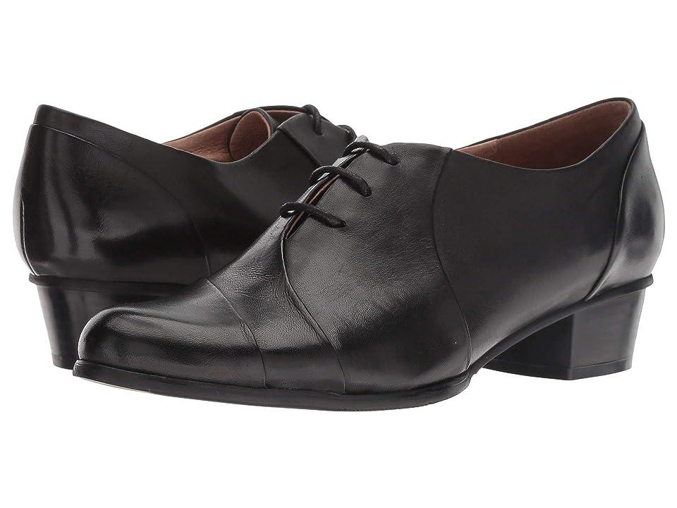 1930s Style Shoes – Art Deco Shoes Spring Step Elvera Black Womens Shoes $139.99 AT vintagedancer.com