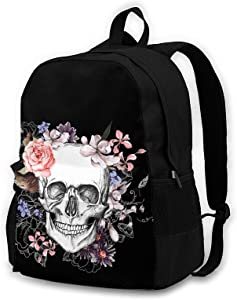 Skull Travel Laptop Backpack for Men Women College School Computer Bookbag with Business Anti Theft Water Resistant