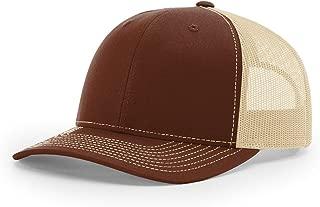 Twill Mesh Back Trucker Snapback Hat -- Brown/Khaki