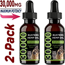 K2xLabs |30,000 MG Max Potency| Buster's Organic Hemp Oil & Treats for Dogs & Cats - Perfect Ratio Omega 3 & 6 - Made in USA - Hip & Joint Health, Natural Relief for Pain, Separation Anxiety