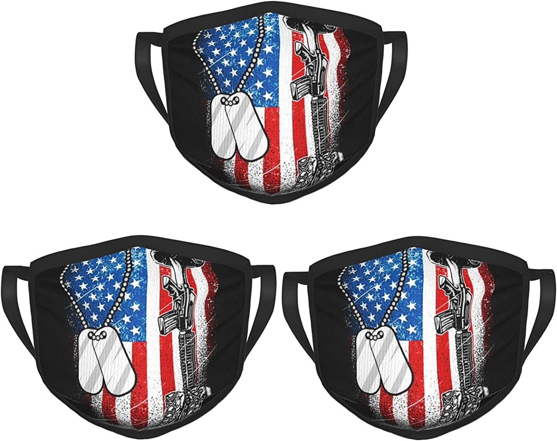 Balaclava Earmuffs America Flag Usa Veteran Gun Boot Helmet Face Mouth Cover Mask Reusable Washable Scarf Towel Cover Headwrap