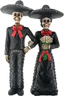 Mariachi Skeleton Couple Holding Hands