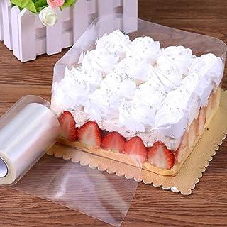 GWHOLE Cake Collar Cake Rolls 10M x 10CM Clear Baking Mousse Surrounding Edge Cake Collar Packaging Wrapping Tape Transpar...