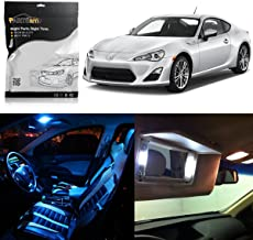 Partsam 6pcs Ice Blue LED Package Interior + License Plate Lights Replacement for Scion FRS 2013-2016