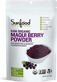 Sunfood Super Foods Raw Organic Maqui Berry Powder