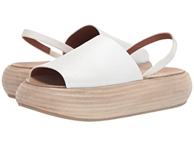 Marsell Rounded Stack Flat Sandal (White) Women