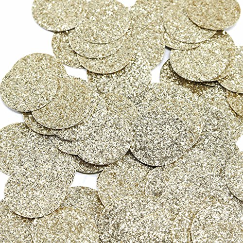 Andaz Press Gold Real Glitter Confetti, 1-inch Double-Sided, 100-Pack