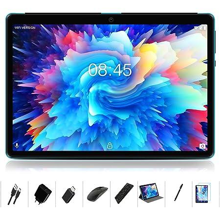 MEBERRY Tablet 10 Pulgadas Android 10.0-con Procesador de Octa-Core Ultrar Rápido Tablets 4GB RAM+64GB ROM - Certificación Google gsm - 8000mAh|WI-FI|Bluetooth|GPS|Type-C (5.0+8.0 MP Cámara) - Bleu