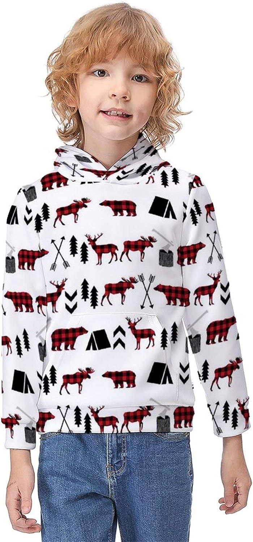 ODOKAY Unisex Kids Pullover Hooded Printed Girls Sweatshirt Long Sleeve Fall Hoodies