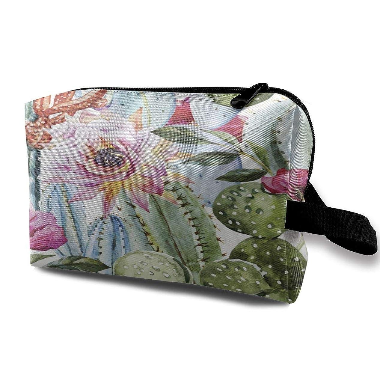 どちらも呼ぶ許さないFlowers Roses And Cactus 収納ポーチ 化粧ポーチ 大容量 軽量 耐久性 ハンドル付持ち運び便利。入れ 自宅?出張?旅行?アウトドア撮影などに対応。メンズ レディース トラベルグッズ