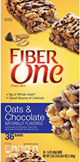Fiber One Oats and Chocolate Chewy Bars (1.4 oz., 36 ct.) (pack of 2)