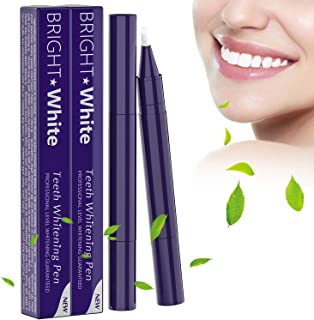Teeth Whitening Pen (2 Pack) No Sensitivity Easy To Use Whitening Lasting Travel Friendly, 15+ Natural Mint Flavor Whitening Treatments