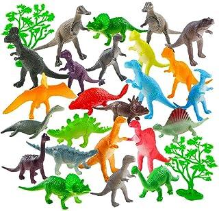 Auihiay 26 Pack Mini Figurines de Dinosaure en Plastique pour l'éducation des Enfants, Packs de fête, Cadeaux, décorations...