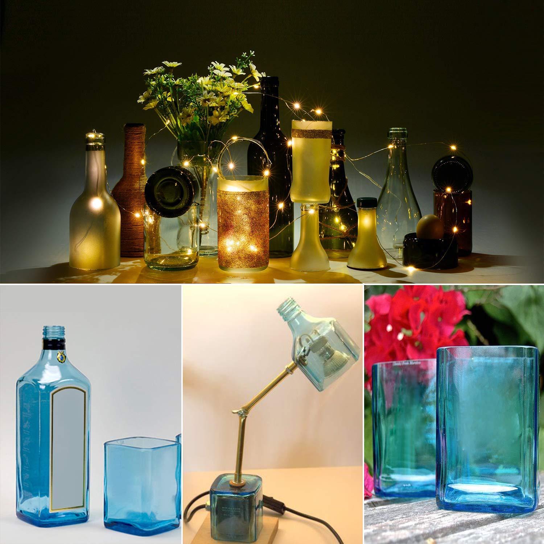AGPTEK Cristal, máquina Cuadrada y Redonda, Corte Vino Cerveza con Kit de Herramientas de Accesorios, Cortador de botellas de vidrio, Upgrade Version: Amazon.es: Hogar