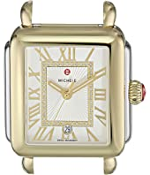 Michele - 33mm x 35mm, Deco Madison Two-Tone Diamond Dial Silver