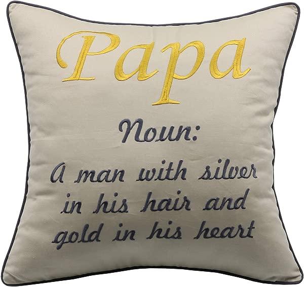 YugTex Pillowcases Nana And Papa Nana And Papa Pillow Grandparent Pillow Grandparent Housewarming Gift Gift For Parents Grandma Gift Papa Natural 18 X18