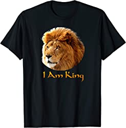 Lion Head T-shirt - I Am King t-shirt