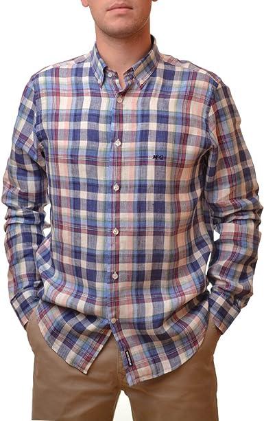 McGregor Camisa Cuadros Lenny Leith para Hombre L: Amazon.es ...