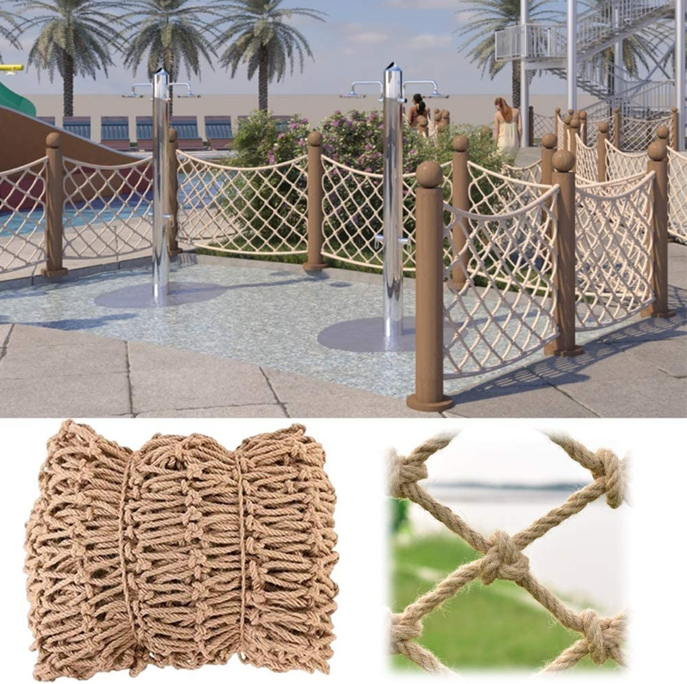 YYQIANG Decor Net Anti-Fall Safety Easy Department store Inst Hemp Weekly update to