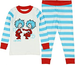INTIMO Kids' Toddler Cat in The Hat One and Thing Two' Pajama Set