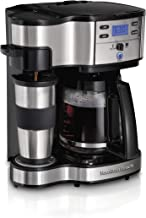 Hamilton Beach 2-Way Brewer Coffee Maker, Single-Serve and 12-Cup Pot, Stainless Steel..