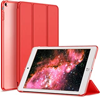 Kenke iPad Case Mini 1/2/3 Generation Slim Lightweight Smart iPad Cover 7.9 Inch,Transparent Hard Shell with Auto Sleep Wake for iPad Mini 1, Mini 2, Mini 3 (red)