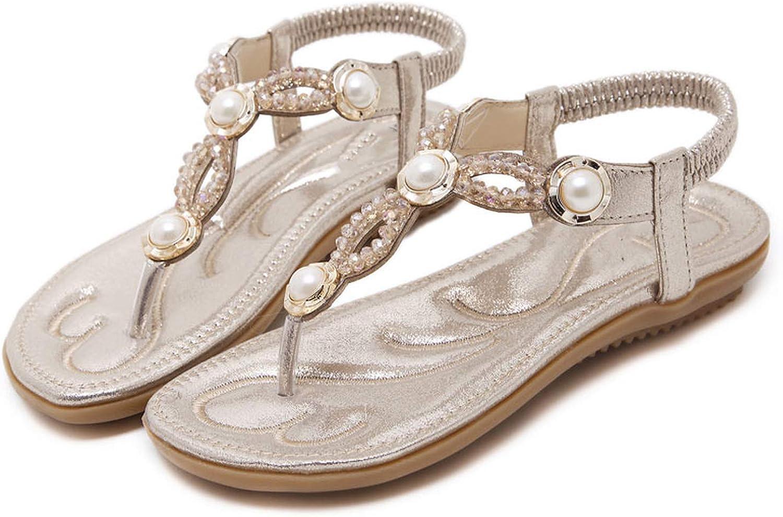 Oasrs Summer Women Sandals Cryal Gladiator shoes Flip Flops Sandalias women Female Footwear,gold,40