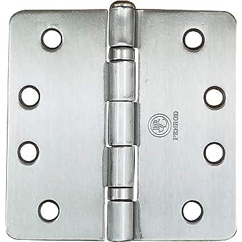 """Stanley Solid Brass 4/""""x4/"""" Door Hinges 3 pack NEW Satin Nickel Finish 1//4/"""" Radius"""