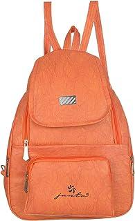 JANTA PU Leather shoulder Backpack Women's,college bag for Girls-(ORange-3228)