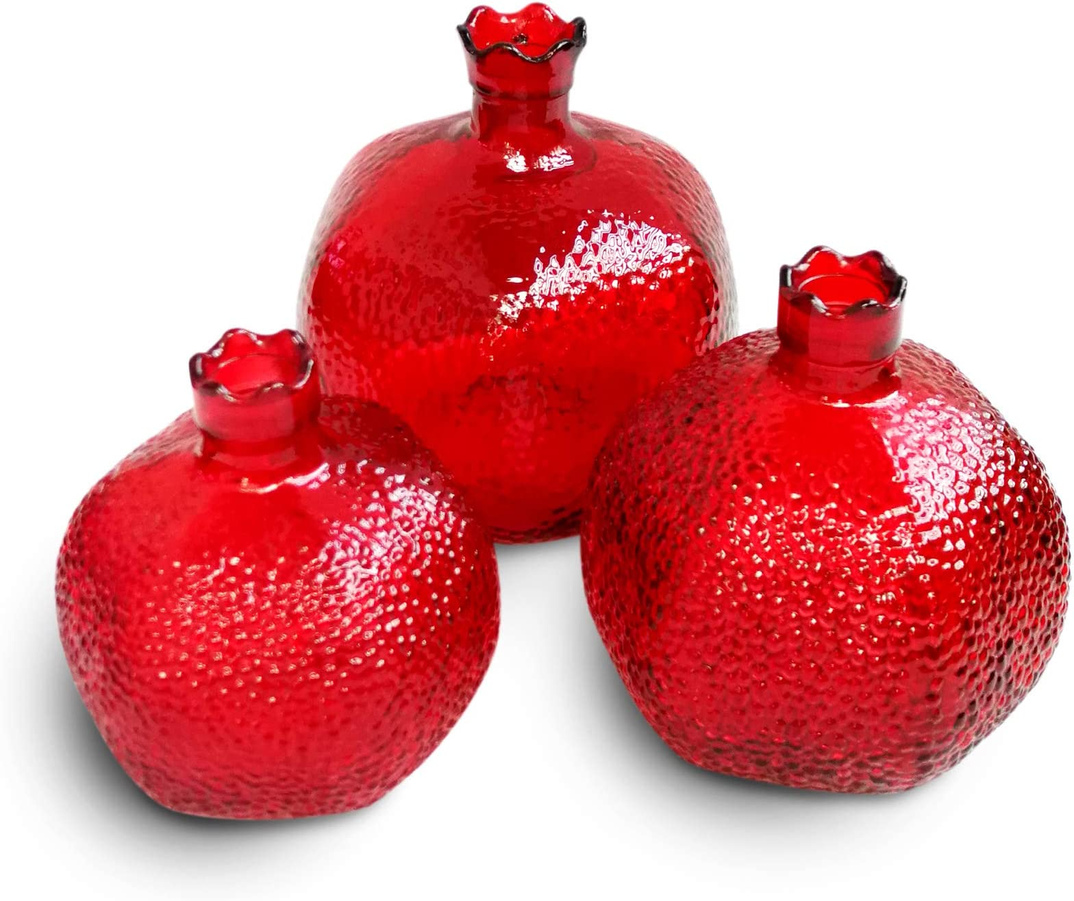 Good Luck gift Abundance symbol Ceramic Fruit Christmas Decor prosperity gift decoration rustic Woodland Decor Red Pomegranate ornament