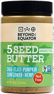 Sponsored Ad - Beyond the Equator - 5 Seed Butter [Unsweetened] 16 Ounces|1 Pack. No Peanuts, No Tree Nuts. No Added Sugar...