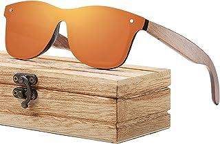 shifenmei - Gafas de sol de madera polarizadas   marco de madera fresca   caja de madera   para hombres y mujeres