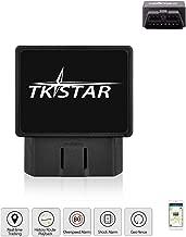 BINDEN Rastreador GPS TK816 OBDII para Auto o Camioneta con Batería de Respaldo, Alarma de Vibración, Remoción, Límite de Velocidad y Geo-Cerca