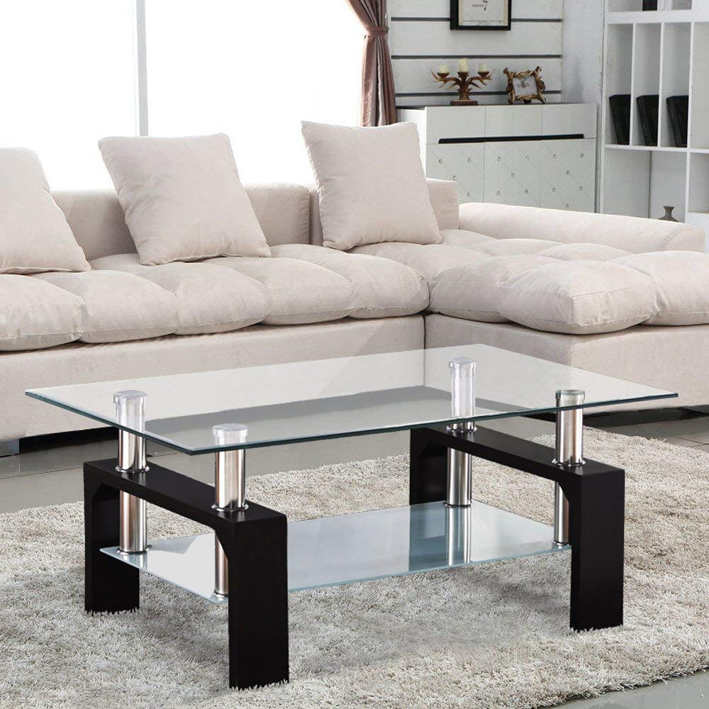 glass table amazon co uk rh amazon co uk glass coffee tables for living room glass top tables for living room