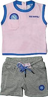 SSC NAPOLI P19i1n90630 - Conjunto Infantil sin Mangas + pantalón Corto Unisex para niño 0-24, Unisex, bebés 0-24, P19I1N90630