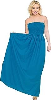 Women's Beach Dress Summer Casual Elegant Party Tube Dress Printed A