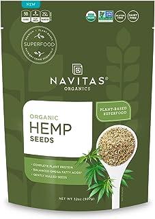 Navitas Organics Hemp Seeds, 32 oz. Bag, 60 Servings — Organic, Non-GMO, Low Temp-Hulled, Gluten-Free