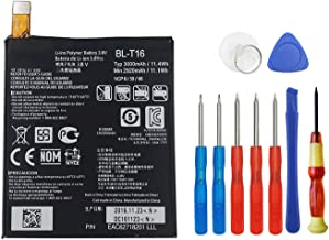 Wee 3000mAh 3.8V Battery Replacement BL-T16 for LG G Flex 2 H950 H955A LS996 H959 US995 EAC62718201 with Tools