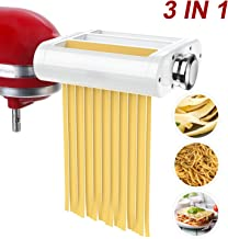 ANTREE Pasta Maker Attachment 3 in 1 Set for KitchenAid Stand Mixers Included Pasta Sheet..