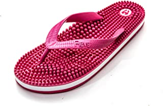 Revs Premium Massage Flip Flops - Massage Footbed for Better Health, Pain Relief, Increase in Circulation & Energy