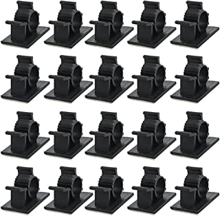 Saim Black Adhesive Backed Nylon Wire Adjustable Cable Management Clips Clamps 50Pcs