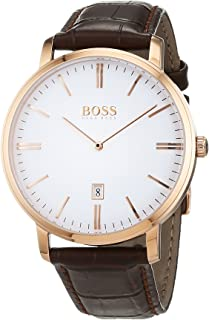 Hugo Boss Men 1513463 Year-Round Analog Quartz Brown Watch