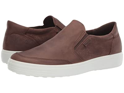 ECCO Soft 7 Slip-On (Cocoa Brown) Men